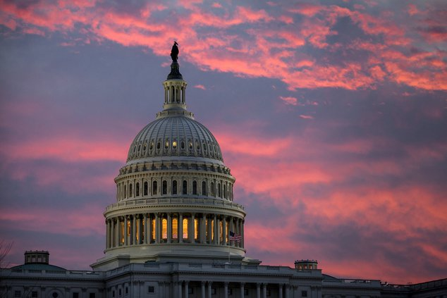 Taxes Capitol sunset