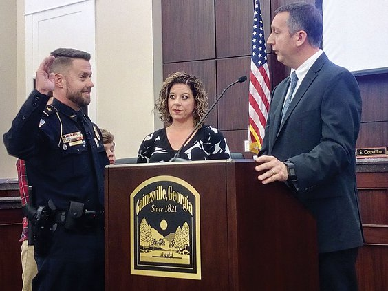 Gainesville swears in new chief Jay Parrish - Gainesville Times