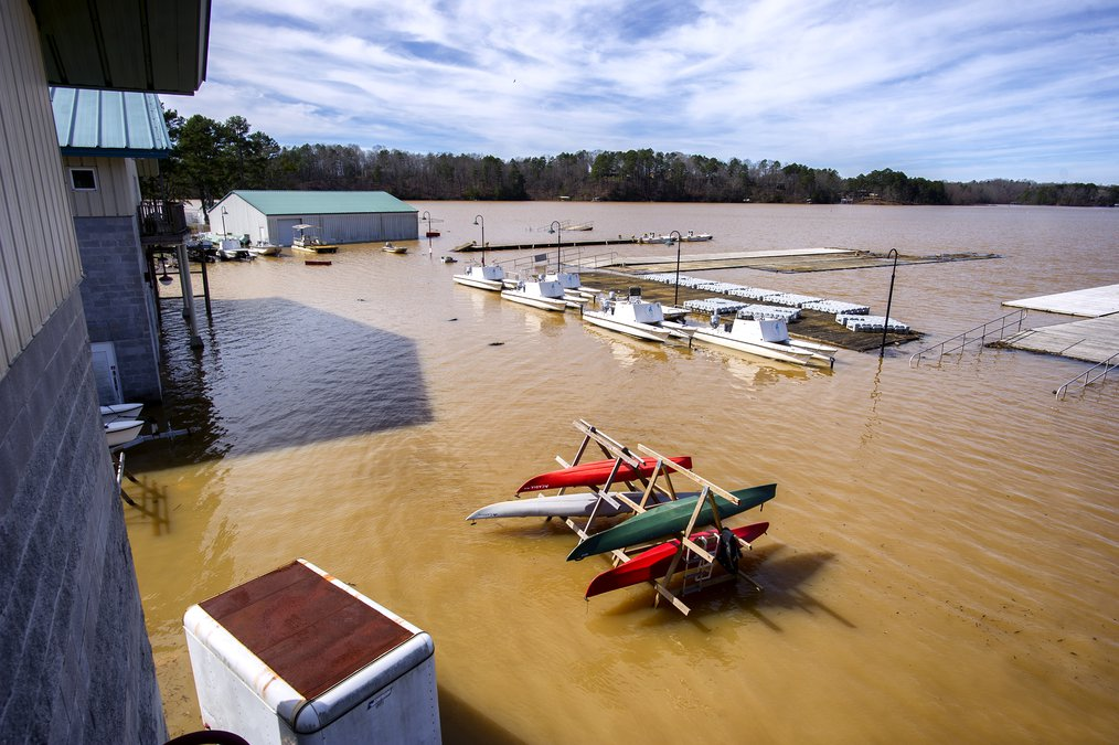 What LCKC boathouse looks like after Lake Lanier reaches