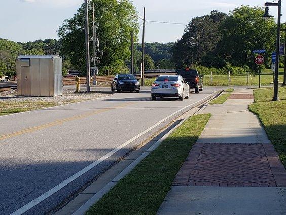 Railroad Avenue at Lights Ferry Road