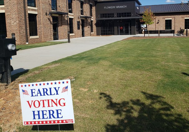 Early voting Flowery Branch