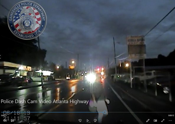 Police release dash cam video of woman hit on Atlanta