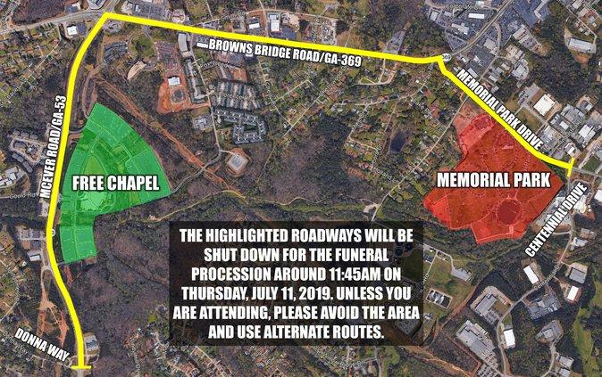 Dixon funeral route