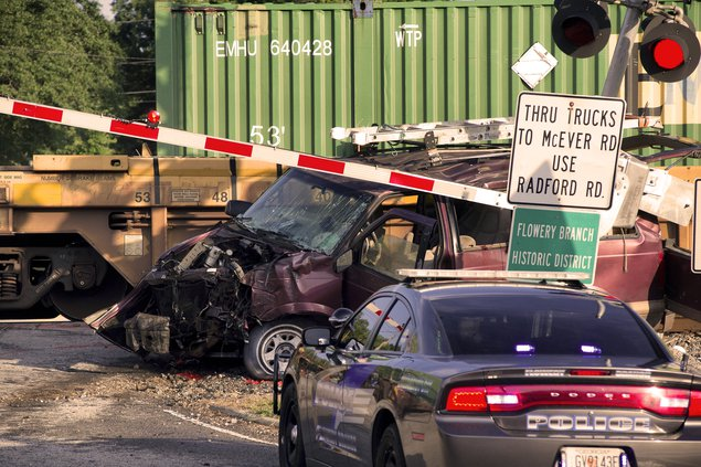 1 victim dies after train hits van in South Hall
