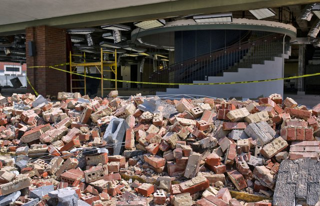 What demolition looks like at Gainesville's library, in 7